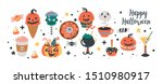 halloween holiday cute food and ... | Shutterstock .eps vector #1510980917