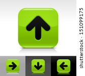 arrow icon set green color...