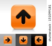 arrow icon set orange color...