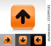 arrow icon set orange color...