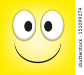 a vector cute cartoon yellow... | Shutterstock .eps vector #151099274