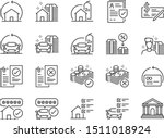 Refinance Line Icon Set....