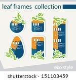 vector leaf frames collection... | Shutterstock .eps vector #151103459