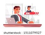 television news announcer... | Shutterstock .eps vector #1511079527