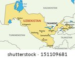 republic of uzbekistan  ... | Shutterstock .eps vector #151109681