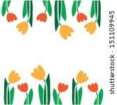 tulip frame. vector art | Shutterstock .eps vector #151109945