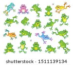 A Large Set Of Funny Frogs In...