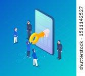 digital internet security... | Shutterstock .eps vector #1511142527