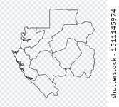 blank map gabon. high quality...