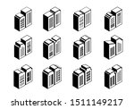 3d buildings and company icons... | Shutterstock .eps vector #1511149217