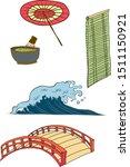 symbol of japanese illustration ... | Shutterstock .eps vector #1511150921