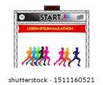 set of marathon start finish... | Shutterstock .eps vector #1511160521