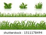 realistic green grass. 3d fresh ... | Shutterstock .eps vector #1511178494