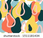 hand drawn various shapes and...   Shutterstock .eps vector #1511181434
