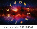 zodiac signs over magic... | Shutterstock . vector #151123367