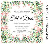 invitation or wedding card with ... | Shutterstock .eps vector #151123877