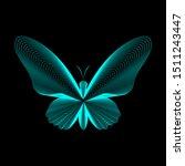 butterfly lines vector... | Shutterstock .eps vector #1511243447