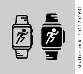 smartwatch training icon.... | Shutterstock .eps vector #1511251931