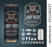 vector light beer label.... | Shutterstock .eps vector #1511260157