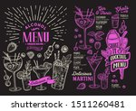 cocktail menu template for... | Shutterstock .eps vector #1511260481