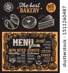 bakery menu template for...   Shutterstock .eps vector #1511260487