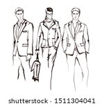 stylish handsome mans in... | Shutterstock .eps vector #1511304041
