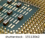 processor with golden pins... | Shutterstock . vector #15113062