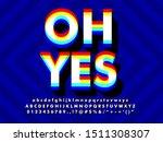 3d overprint font text effect   Shutterstock .eps vector #1511308307