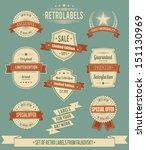 set of vintage retro labels ... | Shutterstock .eps vector #151130969