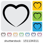 abstract human heart love  icon ... | Shutterstock . vector #151134311
