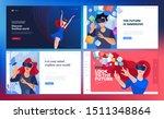 web design templates of virtual ... | Shutterstock .eps vector #1511348864