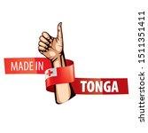 tonga flag  vector illustration ...   Shutterstock .eps vector #1511351411
