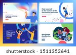 web design templates of virtual ... | Shutterstock .eps vector #1511352641