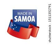 samoa flag  vector illustration ...   Shutterstock .eps vector #1511352791