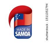 samoa flag  vector illustration ...   Shutterstock .eps vector #1511352794