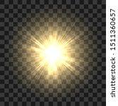 realistic sun rays. yellow sun... | Shutterstock .eps vector #1511360657