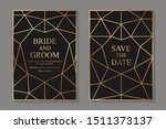 set of modern geometric luxury...   Shutterstock .eps vector #1511373137