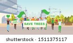 save trees social protest flat... | Shutterstock .eps vector #1511375117