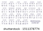 professions linear big icons... | Shutterstock .eps vector #1511378774