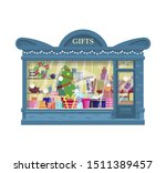 Vector Gift Shop Filled With...