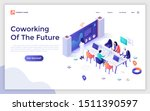landing page template with...   Shutterstock .eps vector #1511390597