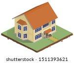 vector illustration of a house... | Shutterstock .eps vector #1511393621