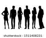 vector silhouettes of  men and... | Shutterstock .eps vector #1511408231