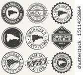 dominican republic travel stamp ... | Shutterstock .eps vector #1511423864