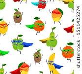 super fruits seamless pattern.... | Shutterstock .eps vector #1511425274