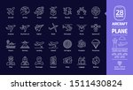 aircraft outline icon set in...   Shutterstock .eps vector #1511430824