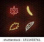 neon leaves signs vector... | Shutterstock .eps vector #1511433761