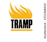 tramp shiny emblem. vector... | Shutterstock .eps vector #1511468414