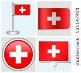 switzerland flag   set of... | Shutterstock .eps vector #151147421