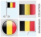 belgium flag   set of various... | Shutterstock .eps vector #151147424